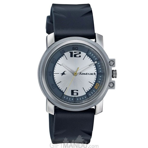 Fastrack Brass Case Silver Dial Analog Watch for Men (3039SP01)