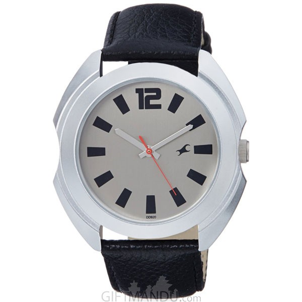 Fastrack Brass Case Dark Grey Dial Analog Watch for Men (3117SL02)