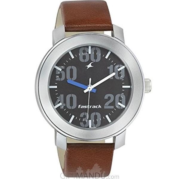 Fastrack Brass Case Black Dial Analog Watch for Men (3121SL01)