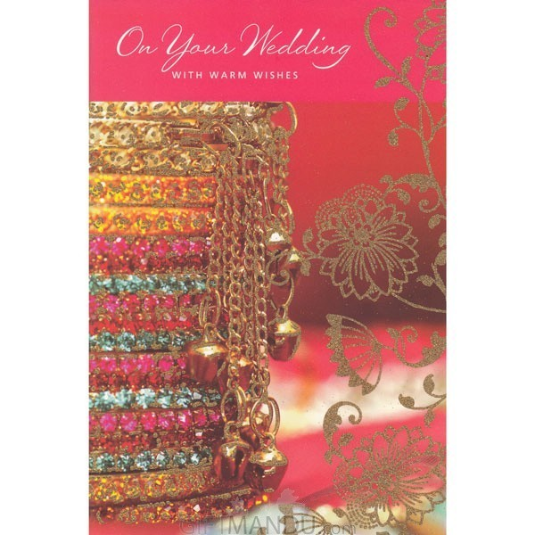 On Your Wedding With Warm Wishes - Greeting Card