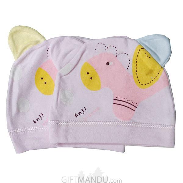 Pink Cap For Babies (2 Pcs)