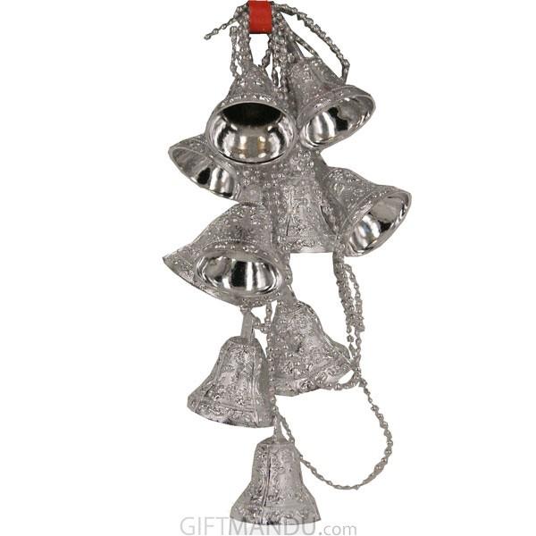 Christmas Tree Decoration Bells (Silver) - Medium