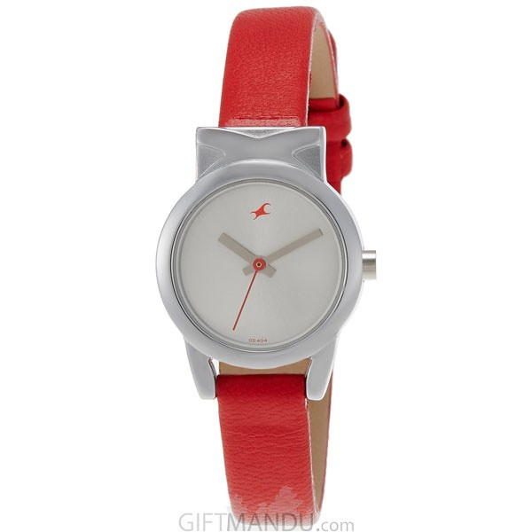 Fastrack Brass Case Silver Dial Analog Watch for Women (6088SL02)