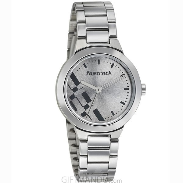 Fastrack Grey Dial Analog Watch for Women (6150SM01)