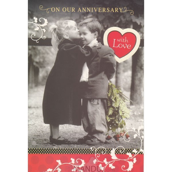 On Our Anniversary With Love - Greeting Card