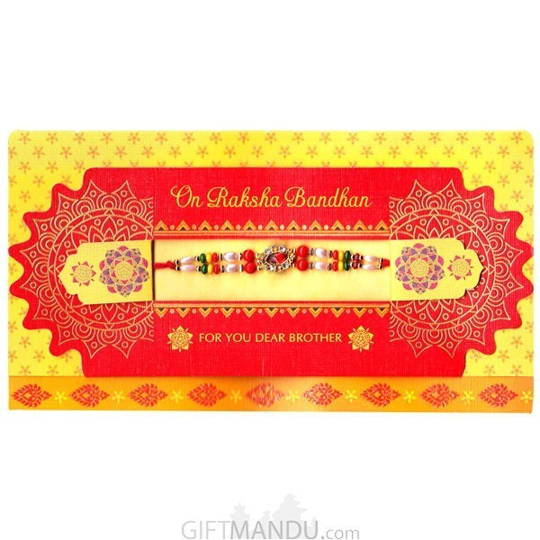 On Raksha Bandhan For You Dear Brother Greeting Card - (Rakhi Thread Included)