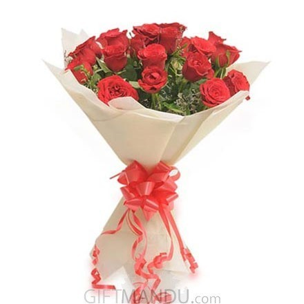 Beautiful 20 Red Roses Bouquet Wrapper