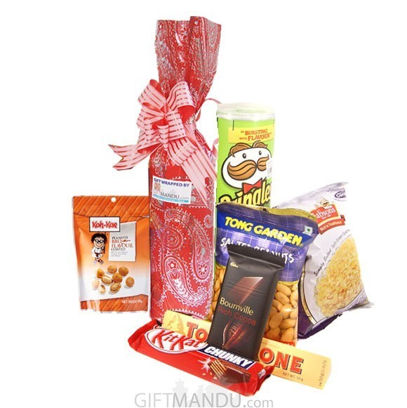 Sweet Red Wine,  Snacks and Koh-Kae with Chocolates (7 items)