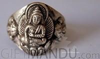 Sterling Silver Ring Buddha (SJ-1102)