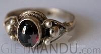 Sterling Silver Ring Garnet (SJ-1108)