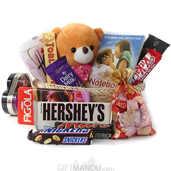 Teddy Bear Book Chocolates Basket Online Shop Gifts To Nepal