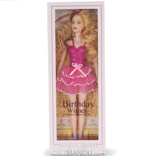 Birthday Wishes Fashion Girl Doll - Pink Dress