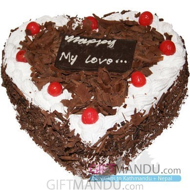 Special Black Forest Cake from Hotel Annapurna (Heart)