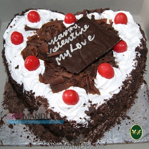 Heart Black Forest Cake (2 lbs) from Hotel Annapurna