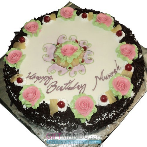 Black Forest Cake (Round) - Outside Kathmandu Valley Only