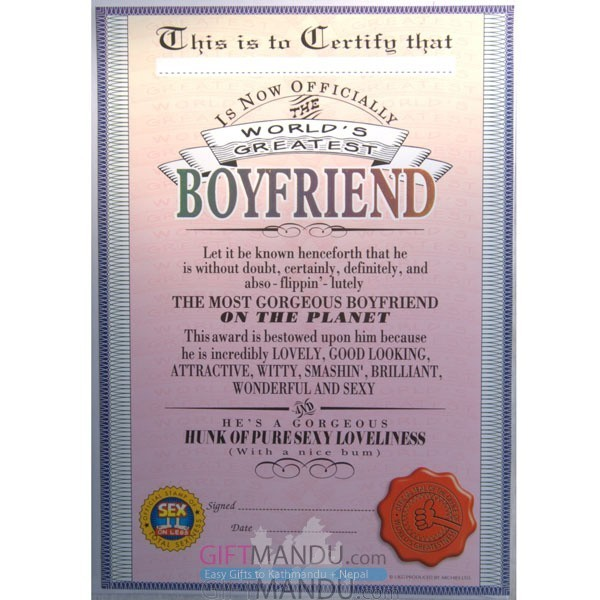 World's Greatest Boyfriend - Archies Big Size Greeting Card