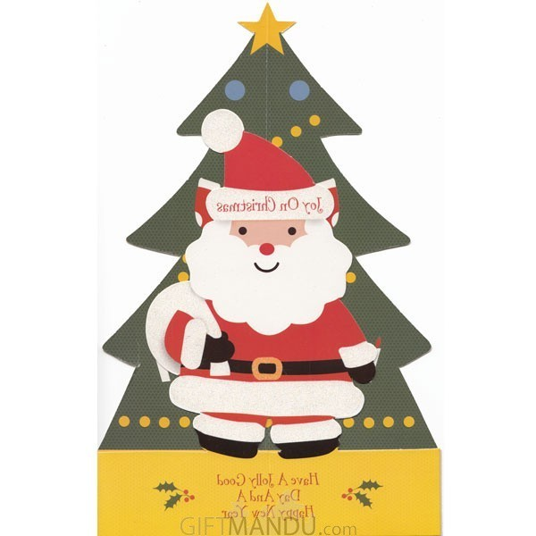 Joy on Christmas - Jolly Good Day and Happy New Year - Greeting Card