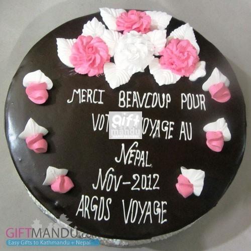 Round Chocolate Cake for Pokhara (GB24)