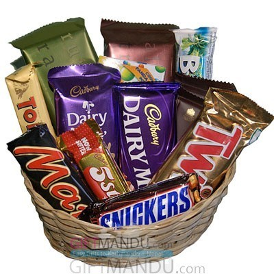 Cadbury Mix Chocolates Gift Basket 14 Chocolates Send