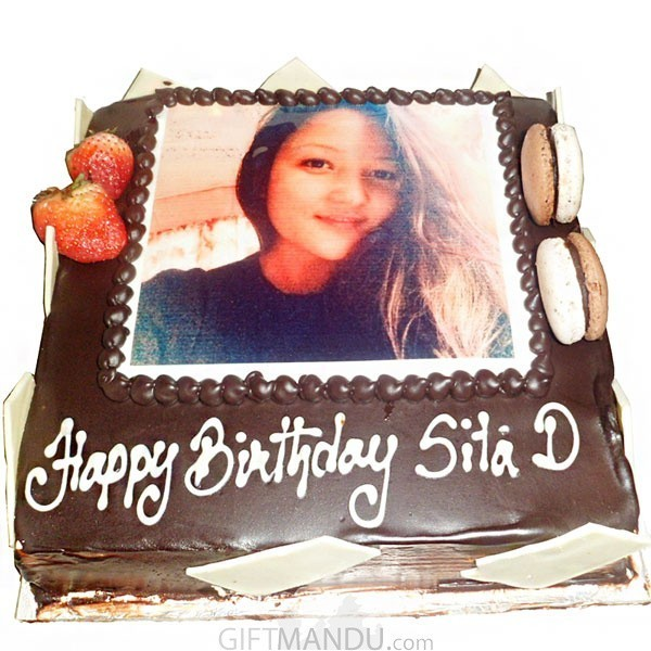 Chocolate Photo Cake Print Any For Kathmandu Valley