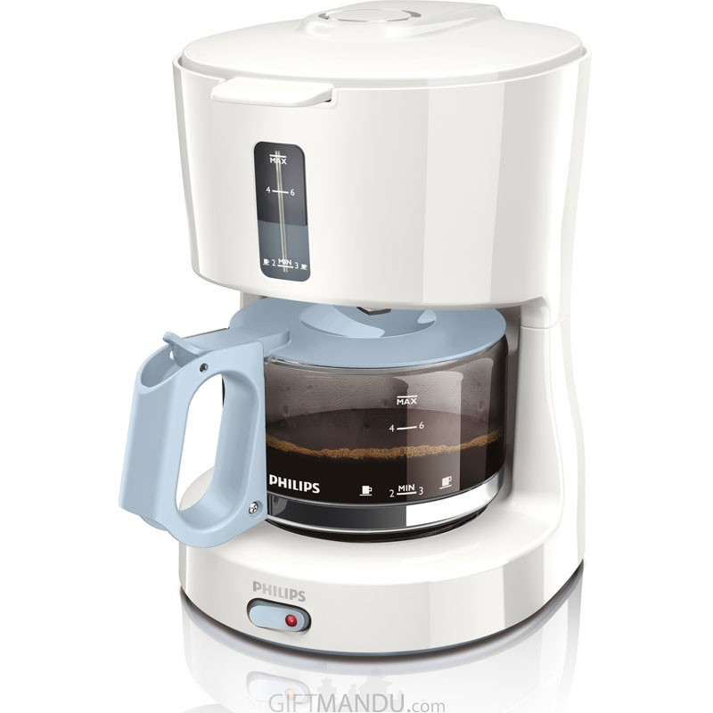 Philips Coffee Maker with Glass Jug White Blue HD7450/70 (0.6 L, 650 W)