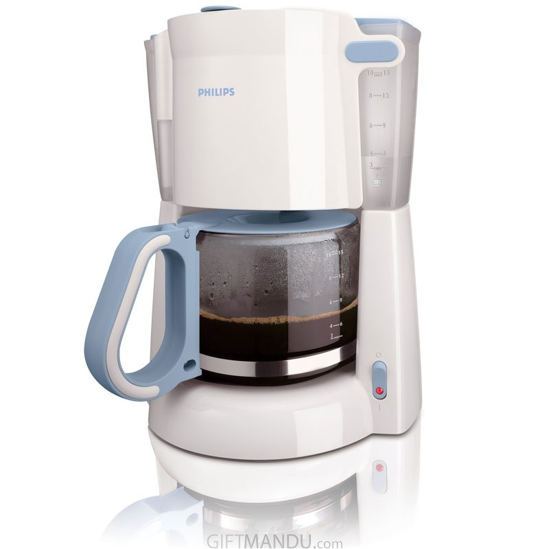 Philips Coffee Maker with Glass Jug White Blue HD7448/70 (1.3 L, 1100 W)