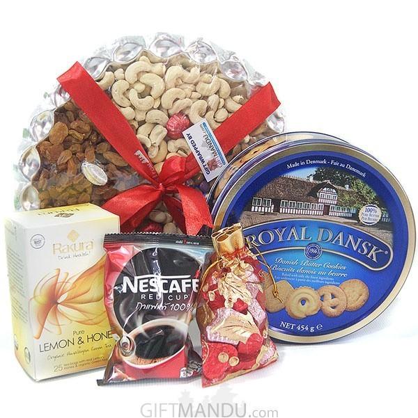 Nuts Tray, Cookies, Tea & Chocolates