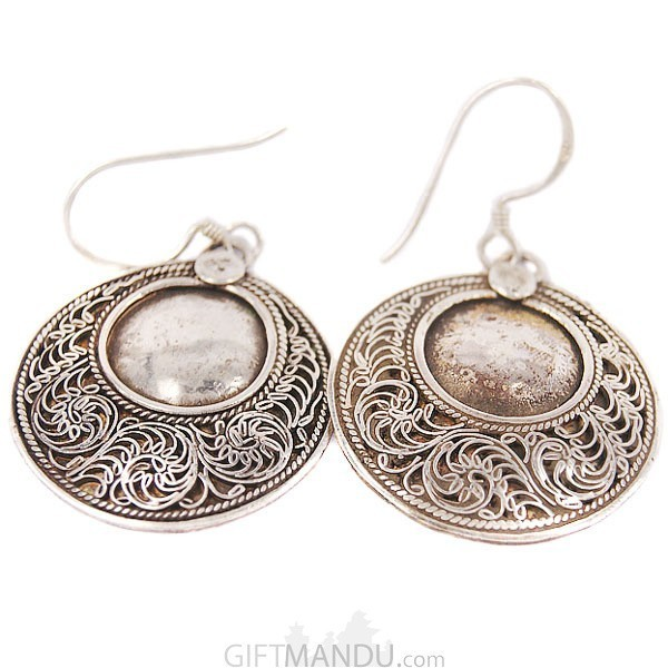 Silver Earring - Double Circle