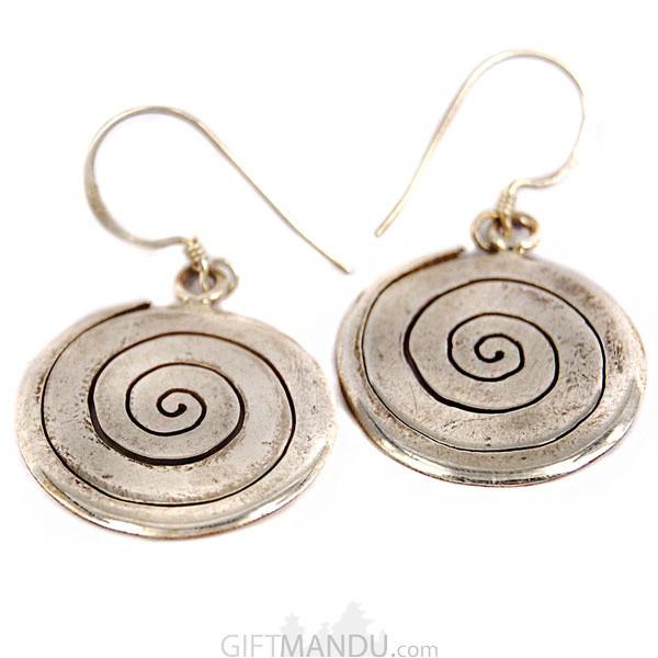 Silver Earring - Spiral