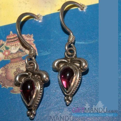 Silver Earring - Pink Eyes