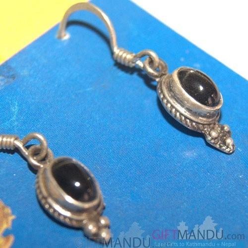 Silver Earring - Dark Moon