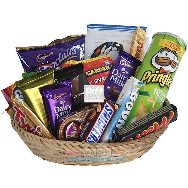 Chocolates Snacks All Season Gift Basket