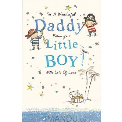 Son to Dad - For A Wonderful Daddy from Little Boy Greeting Card