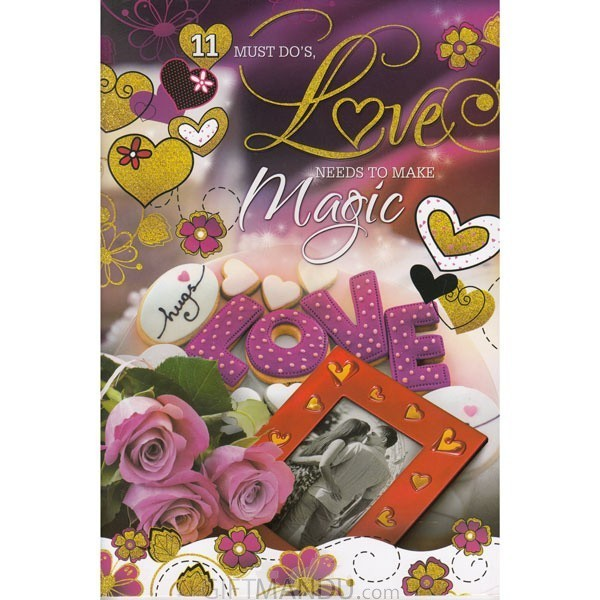 Must Do's Love Need To Make Magic - Greeting Card