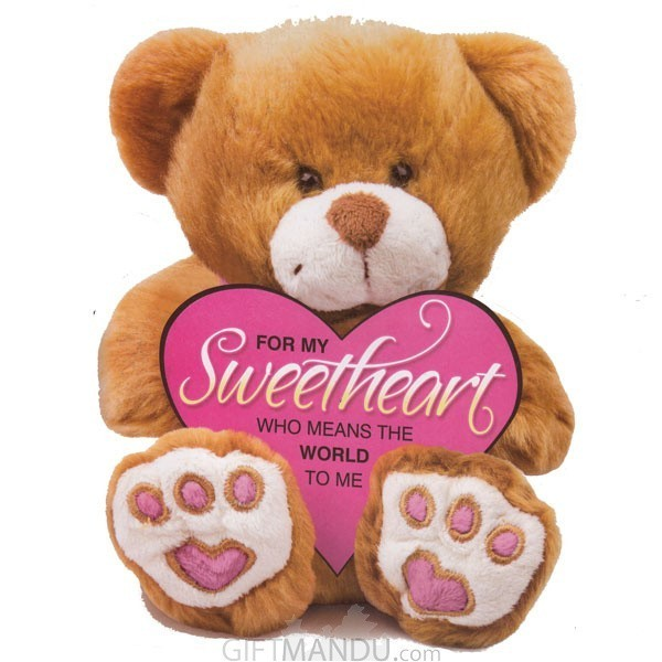For My Sweetheart Who Means The World To Me - Greeting Card