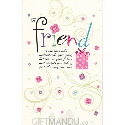 Friend happy birthday greeting card send gifts to nepal greeting friend happy birthday greeting card bookmarktalkfo Image collections