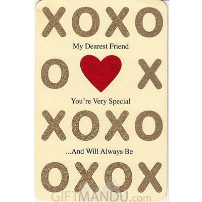 XOXO My Dearest Friend Greeting Card