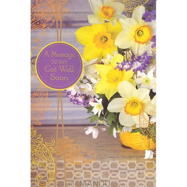 Message to Say Get Well Soon - Greeting Card