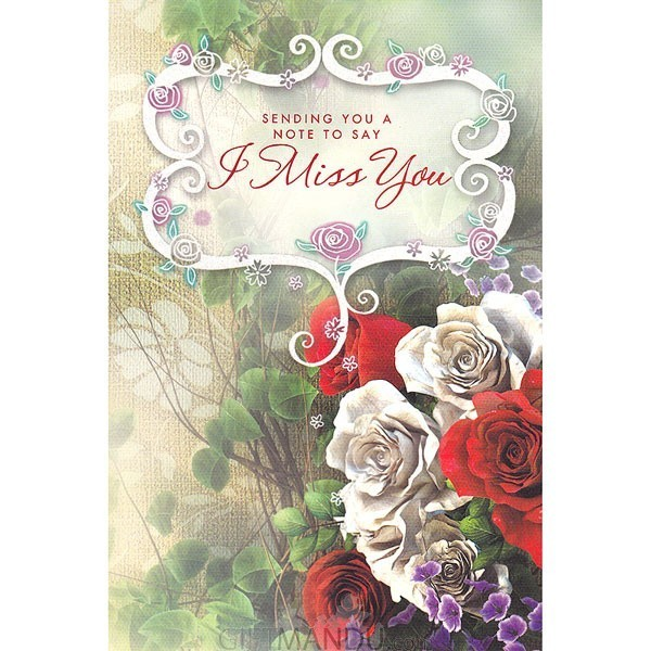 Note to say i miss you greeting card send gifts to nepal gifts note to say i miss you greeting card m4hsunfo