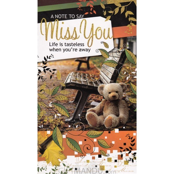 A Note To Say Miss You - Greeting Card