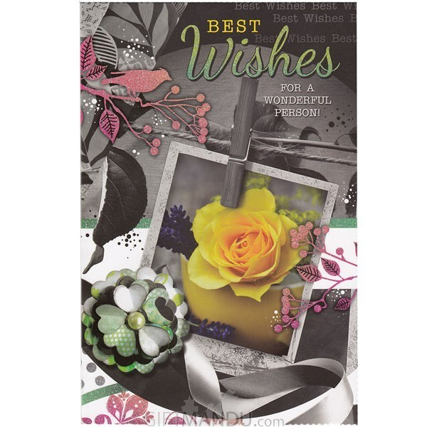 Best Wishes For A Wonderful Person - Greeting Card