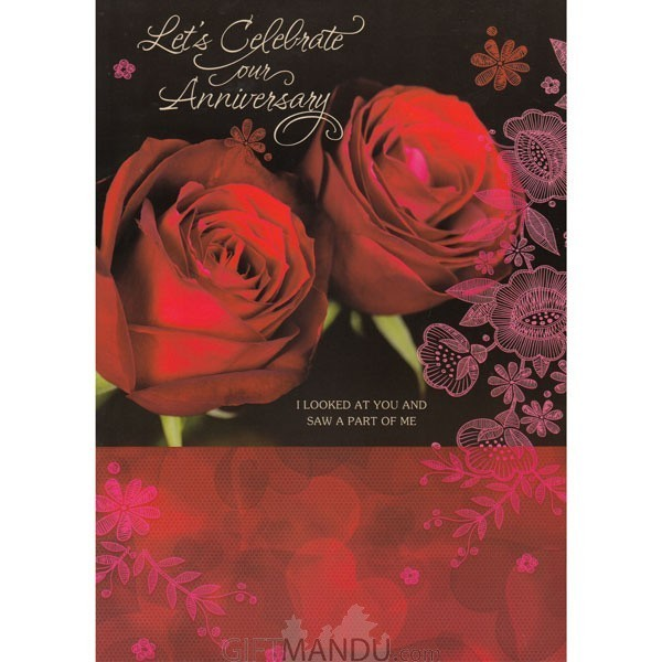 Lets Celebrate On Our Anniversary - Greeting Card