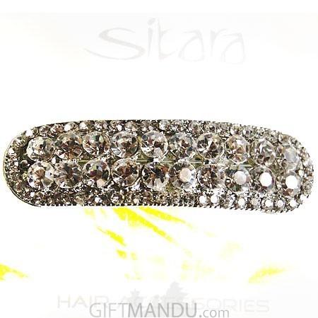 Big Crystal stone design Hair Clip
