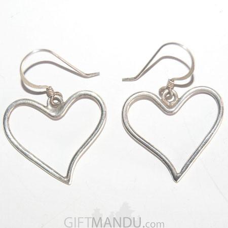 Silver Earring - Love Heart Design