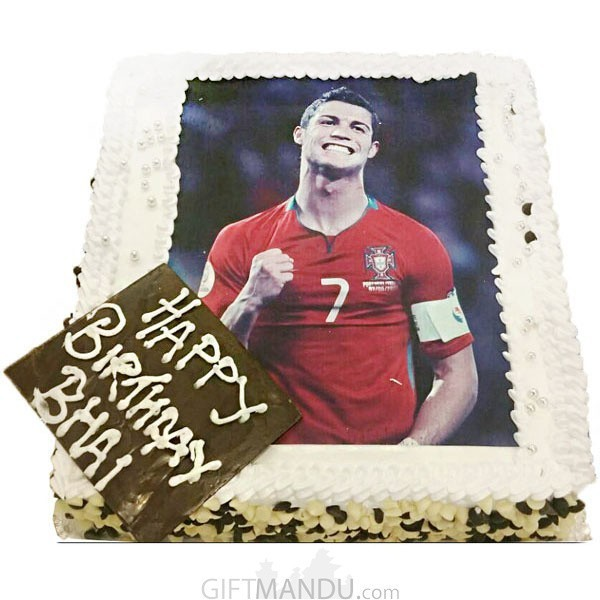 Football Fan Special Photo Cake (Print Any Photo on Cake)