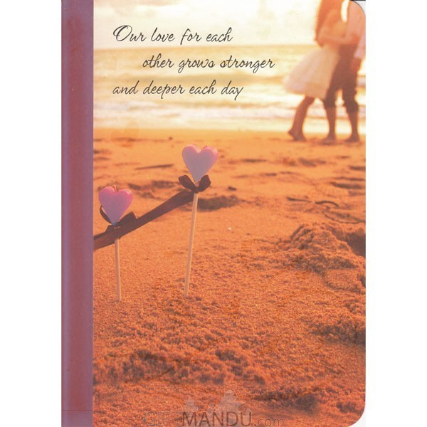 Our Love For Each Other Grows Stronger - Greeting Card