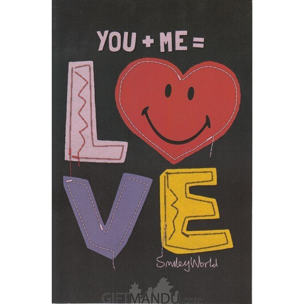 You + Me = Love - Greeting Card