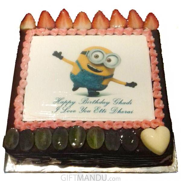 Minion Birthday Cake Online Shop Delivery Gifts To Nepal Giftmandu