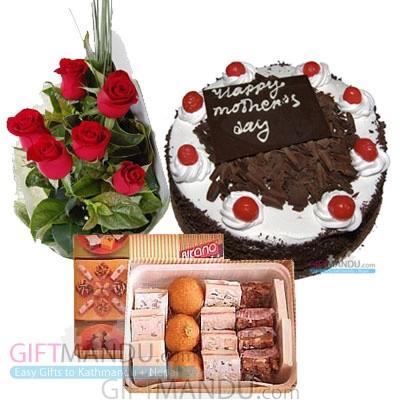 mithai flower cake