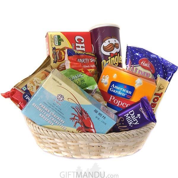 Chocolates Snacks Basket